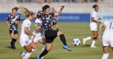 Yuki Nagasato of Racing Louisville versus the Carolina Courage