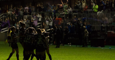 Racing Louisville goal celebration