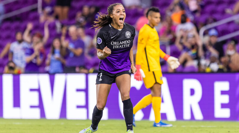 Sydney Leroux of the Orlando Pride in the NWSL