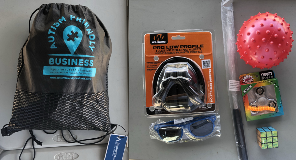Racing Louisville sensory kits
