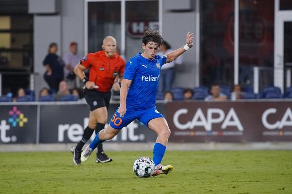 RGVFC midfield Emilio Ycaza